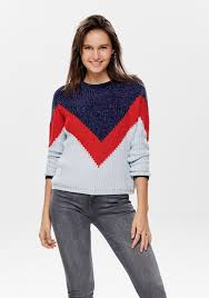 Jacqueline De Yong Size Chart Jacqueline De Yong Partor Velvet Knit Jumper Blue