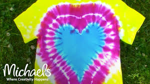 Tie Dye Heart Design How To Make A Heart On A Tie Dye Shirt Michaels