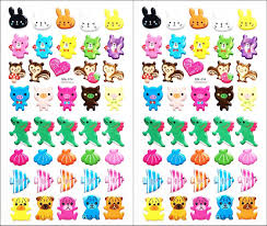 Art Design For Scrapbook Amazon Com Stickers 2 Sheets Cute Dinosaur Bear Rabbit Pig