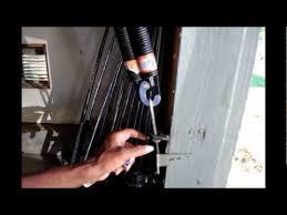 side spring on the garage door