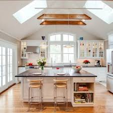 Image Half Photo Of Medium Sized Traditional Singlewall Kitchendiner In New York With Houzz Vaulted Ceiling Lighting Ideas And Photos Houzz