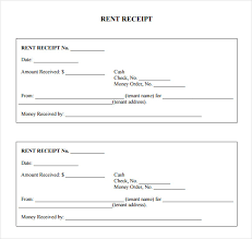 free receipt form free rent receipt form and fill in template sample vlashed