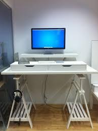 Full Size of Home Desk:maxresdefault Diy Sit Stand Desk Legs Desktop  Plansdiy Top Riser. Fulgurant Ikea Standing ...