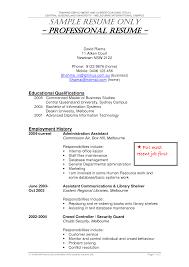 Australian Resume Template Word Alluring It Resume Template Australia With Australian Resume 20