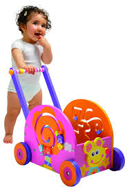 wooden push toys help baby to walk wagon by boikido