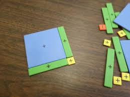 i began by putting out the blue x squared tile and two green x tiles class how many yellow tiles are needed to complete the square one
