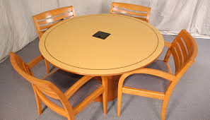 small round conference table maple veneer