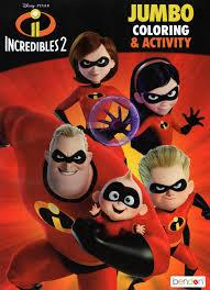 Trailer, clips, photos, soundtrack, news and much more! Disney Pixar Incredibles 2 Jumbo Coloring And Activity Book Disney Pixar Bendon 7426910112092 Amazon Com Books