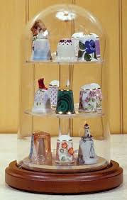 4 x 7 glass display dome case for thimble