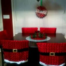 LOVE the chair covers (just in case I ever have a table AND Christmas at