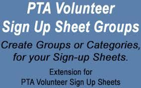 Create Sign Up Sheet Pta Volunteer Sign Up Sheet Groups Stephen Sherrard Plugins