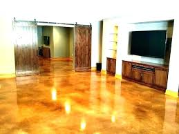 stained concrete floor cost refinishing floors cement resurface garage of refinished and vs t stained concrete floor