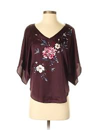 Details About Nwt White House Black Market Women Red Short Sleeve Blouse Xxs Petite