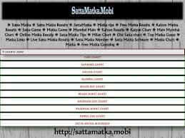 Kalyan Night Chart Kalyan Schemes Collection