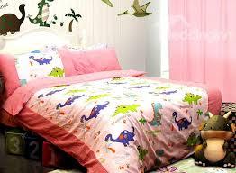 Pink Dragon Garden Print 3-Piece Cotton Kids Duvet Cover Sets ... &  Adamdwight.com