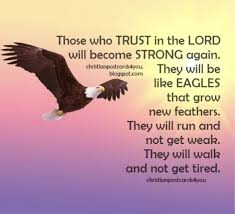 Trust In The Lord Quotes Impressive Nice Christian Quotes Trust In The Lord You Will Be Like Eagles