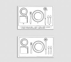Dinner Table Setting Graphic Table Plate Setting Chart Printable Image High Quality 300dpi Clip Art 4530