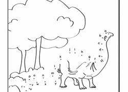 alphabet dot to dot dinosaur
