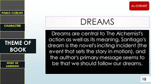 bilal haider a l c hemist by p aulo c oelho presenter ppt  dreams are central to the alchemist s action as well as its meaning
