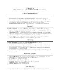 Gallery Of Sample Cs Field Computer Science Resume Template