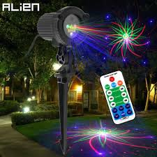 Laser Light Projector Us 42 73 32 Off Alien Rgb 8 Patterns Outdoor Waterproof Moving Laser Light Projector Garden Holiday Christmas Party Tree House Wall Lighting In