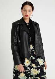 second script curve biker jacket faux leather jacket black zalando co uk