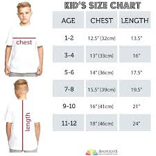 Kids T Shirt Sizes Peaceful Hooligan Junior Size Guide