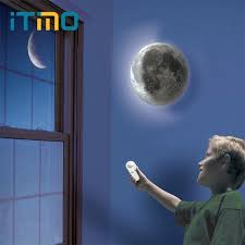 relaxing lighting. Relaxing Lighting Healing Moon Lamp Wall Led Night Light Indoor Gift For Kids O