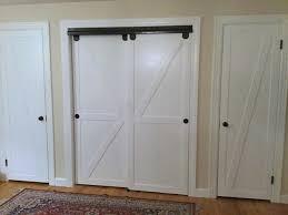 closet doors. Faux Barn Door Closet Makeover Featured On @Remodelaholic Edit Doors O
