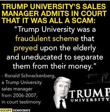 Image result for trump university scam
