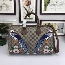 gucci 409527. gucci garden the souvenir collection boston bag 409527 brown a