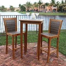 stunning outdoor bistro table set bar height furniture counter