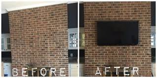 how to hide tv cables on brick fireplace image collections