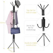 Coat And Bag Rack Free Standing Coat Rack MaidMAX Hall Tree Hat and Clothes Rack with 47