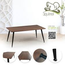 wooden rectangle coffee table with iron