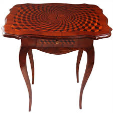 fine louis v marquetry end table for