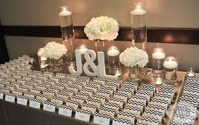 modern wedding day of stationery lms designs www Wedding Escort Cards And Table Numbers this is great cheap option for table cards modern & elegant wedding, escort card table, white hydrangeas, floating candles, gray and white chevron wedding DIY Wedding Table Cards