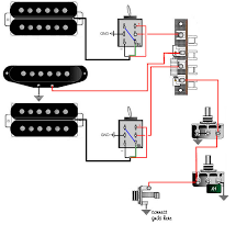guitar wiring, tips, tricks, schematics and links Dimarzio Wiring Schematic Model One 2 humbuckers 1 singlecoil, 2 coil select switches, 5way, 1vol,1tone DiMarzio Wiring Colors