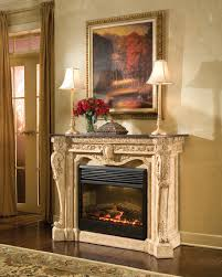 antique white electric fireplace