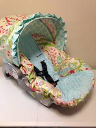 ari gardens fabric aqua minky infant car seat cover for awesome seat cover for baby car seat