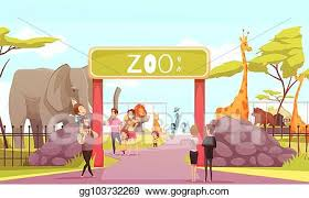 zoo entrance clip art. Perfect Entrance Zoo Entrance Gate Cartoon Illustration With Clip Art T