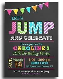 Invitation Words For Birthday Party Amazon Com Jump Party Invitations With Any Wording Printed