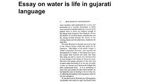 essay on water is life in gujarati language google docs