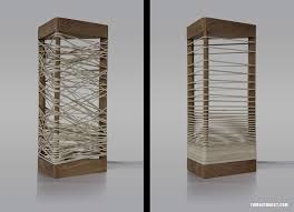 wooden lamp with elastic shades that can be formed as you like sÖhka