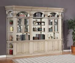 Allure 5 Piece Bookcase Library Wall in Champagne Finish by Parker
