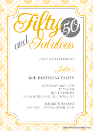 50th birthday invitations free printable fifty and fabulous 50th birthday invitation wedding