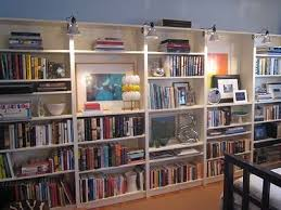 Ikea billy lighting White Ikea Billy Bookcases With Hardware Store Clamp On Lights Pinterest Ikea Billy Bookcases With Hardware Store Clamp On Lights Library