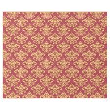 Gold Damask Background Vintage Ruby Red Gold Damask Pattern Wrapping Paper