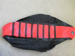 flu red ribbed series gripper seat cover yamaha yz125 yz250 2002 2017