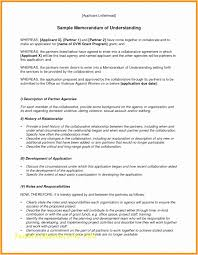 Memorandum Of Understanding Template Awesome Memorandum Of Understanding Template Free Awesome Memorandum